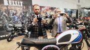La Moto à l'avant-plan au Salon de Bruxelles