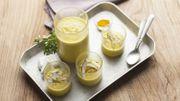 Recette: Soupe glacée poireau-coco-curry