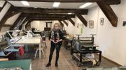 Laurence Chauvier, professeur de gravure, est enchanté de travailler dans son nouvel espace.