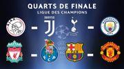 Ajax-Juve, Barça-ManU comme chocs, un derby anglais entre Spurs et Cityzens