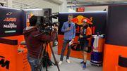 Can Oncu interviewé par l'équipe de la RTBF à Valence.