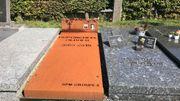 La tombe de père de Nathan devant laquelle le drame s'est déroulé