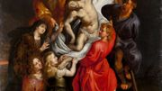 D'après Pierre-Paul Rubens, Descente de croix, Anvers, XVIIe siècle. Peinture à l'huile. Fonds Van Cauwenbergh
