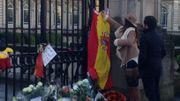 L'Espagne est également en deuil, car la reine Fabiola y est née née en 1928.