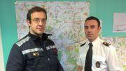 Stéphane Bouquette, chef de la zone de secours HEMECO, et le capitaine Tanguy Fierens avaient fait part de leur inquiétude quant à la dangerosité des ruisseaux à la suite du dégel.