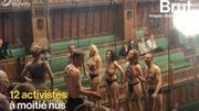 Climat: des activistes dénudés perturbent une séance de la Chambre des Communes britannique