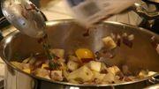 Un vrai apéro spadois, suivi d'un repas gastronomique composé de produits du terroir