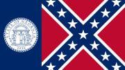 le drapeau de l'État de Géorgie entre 1956 et 2003