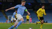 Champions League: Un De Bruyne des grands soirs permet à Manchester City d'émerger face à Dormtund