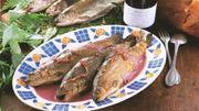 La recette de truites au vin rouge de Candice