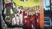 Graffiti de L'Agneau Mystique des Frères Van Eyck
