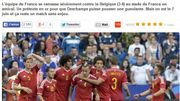 """""""Plus q'un but, un gouffre"""" entre la France et la Belgique"""