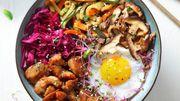 Recette : Bibimbap coréen au poulet