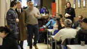 Visite royale auprès des sans-abris à Saint-Gilles