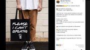 """Un sac """"Please, I can't breathe"""" fait polémique: """"Vraiment choquant"""" d'après Dominique d'Enghien"""