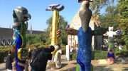 Un petit air de Barcelone au parc du Beffroi à Mons. Niki de Saint Phalle s'est inspirée de l'oeuvre d'Antonio Gaudi.