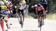 De Gendt au sprint à l'arrivée au Chalet Reynard.