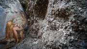 Une fresque érotique découverte à Pompéi dépeint les frasques de Léda