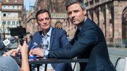 De gauche à droite, les candidats Alain Fontanel (LREM) et Jean-Philippe Veter (Le Republicains)
