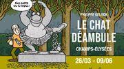 Le Chat de Geluck déambule  sur les Champs - Elysées !