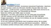 En Prem1ère Ligne : Ebola, est-ce le moment de paniquer ?