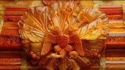 un détail du Cabinet d'ambre (reconstitution)