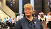 Katrin Sjögren, la Première ministre de Aland