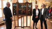 Restitution d'un triptyque flamand volé par les nazis