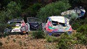 Trois sorties impressionnantes dans le même virage en ERC à Chypre