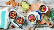 Recette : salade de pommes de terre au saumon et concombre marinés
