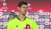 """Estonie - Belgique : Thibaut Courtois regrette les deux buts encaissés : """"Satisfait de la victoire, même si on aurait pu en mettre 8 ou 9"""""""