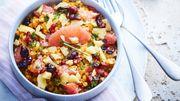Recette: Salade de lentilles corail au pamplemousse et copeaux de sbrinz