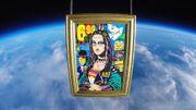 """La """"Punk Mona"""" de l'artiste Jisbar a été mise sur orbite"""
