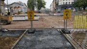 Travaux toujours en cours du côté de la porte de Ninove, côté intérieur de la petite ceinture de Bruxelles.