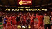 La Belgique prend officiellement la tête du classement FIFA