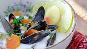Recette : Moules de bouchot au bouillon coco citronnelle