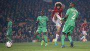 Man United, avec Fellaini, déroule contre Saint-Etienne avec un triplé pour Ibra
