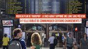 La SNCB a-t-elle oublié de communiquer certains changements ?