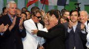 La star présente lors d'un meeting de l'UMP, comme soutien à Nicolas Sarkozy, en 2006