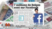 7 millions de Belges sont sur Facebook