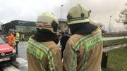 Le 10 janvier, l'incendie de Realco avait nécessité l'intervention de plusieurs dizaines de pompiers.