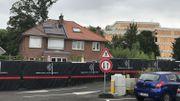 La terrasse de Matthieu est située à moins de deux mètres de la nouvelle gare de Boitsfort et donc des travaux