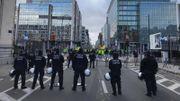 Zone neutre, la rue de la loi est bloquée par la police