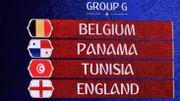 Les Diables affronteront l'Angleterre, la Tunisie et le Panama dans le groupe G du Mondial 2018