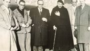 L'Abbé Pierre et les fondateurs de la communauté Emmaüs de Mons