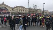 Début de la mobilisation Gare de l'Est à Paris