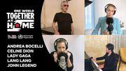 """Andrea Bocelli et Céline Dion reprennent leur duo """"The Prayer"""" aux côtés de Lang Lang, Lady Gaga et John Legend"""