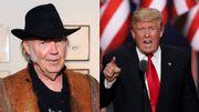Neil Youngpoursuit Donald Trump en justice