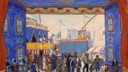 Décor pour la production originale de Petrouchka en 1911 par Alexandre Benois.
