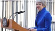 Theresa May donnant l'un de ses derniers discours, juste avant de présenter sa démission.